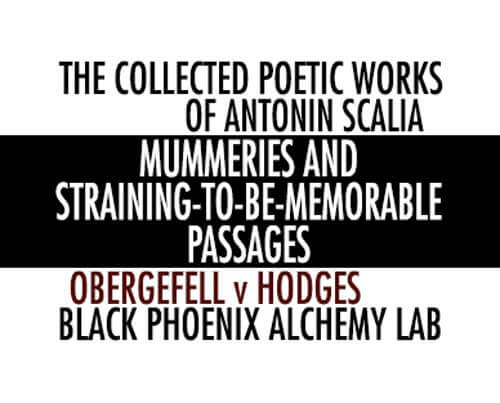 Mummeries and Straining-to-be Memorable Passages