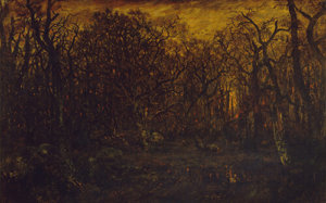 the-forest-in-winter-at-sunset-by-theodore-rousseau