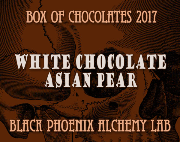 box of chocolates 2017-White Chocolate and Asian Pear