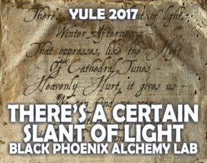 YULE 2017 LABEL - THERE'S A CERTAIN SLANT OF LIGHT