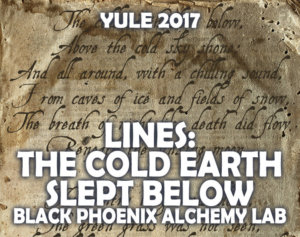 YULE 2017 LABEL - lines the cold earth slept below