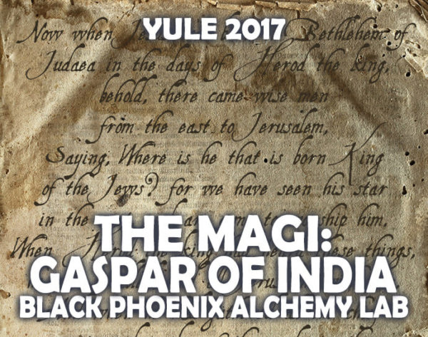 YULE 2017 LABEL - the magi - GASPAR OF INDIA