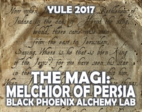 YULE 2017 LABEL - the magi - MELCHIOR OF PERSIA