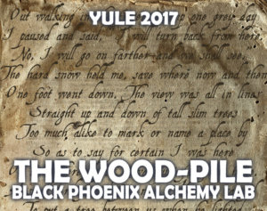 YULE 2017 LABEL - the wood pile