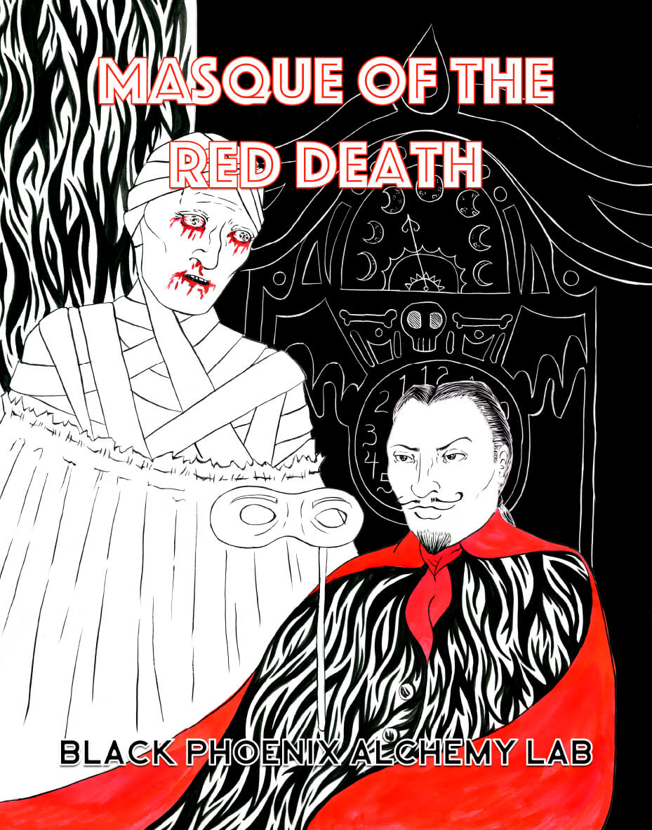 the seven rooms in the masque of the red death